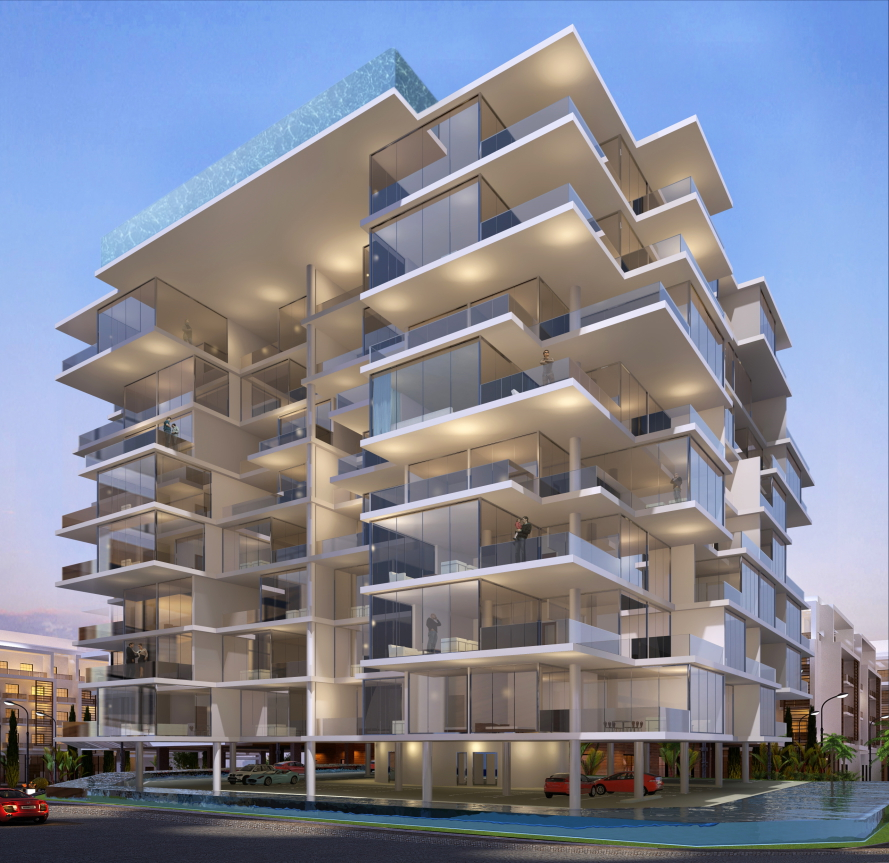 Immeuble residentiel Dubai 2014 by Dragan Architecture Paris