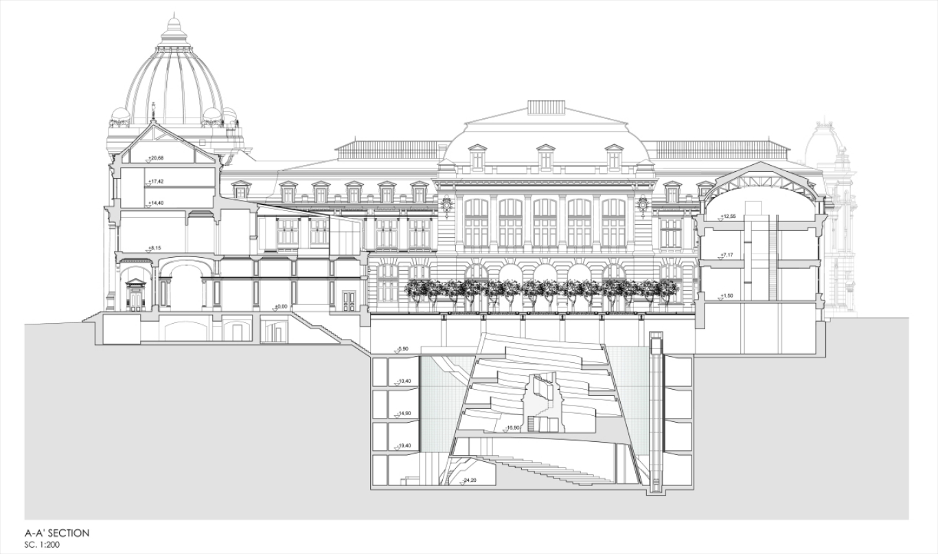 History Museum, Bucharest, 2016, Dragan Architecture, Paris